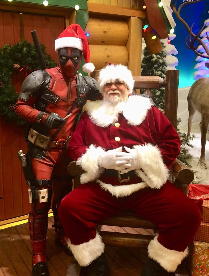 My Friend Is Santa At Bass Pro (Among Other Places). He Had An Unexpected Visitor