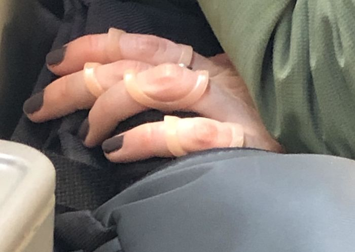 What Are These Are What Are They For? The Girl Sitting Across From Me Had Them On All Fingers On Both Hands