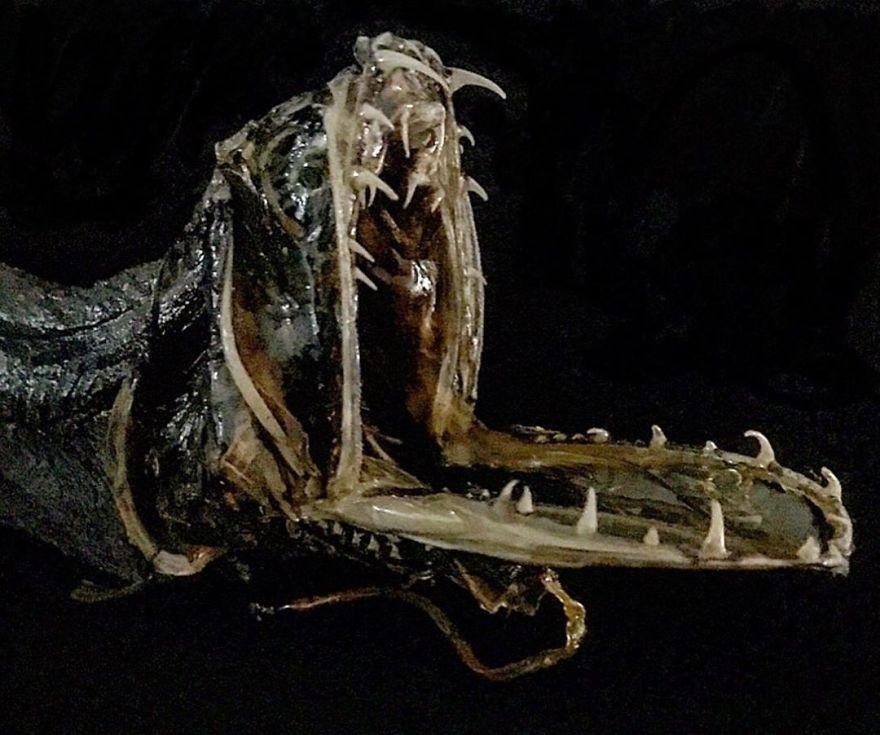 Taxidermied Deep-Sea Dragon Fish