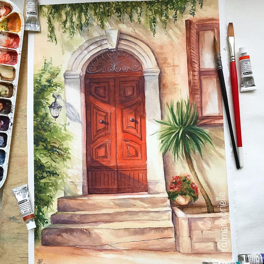 Mystical Red Door