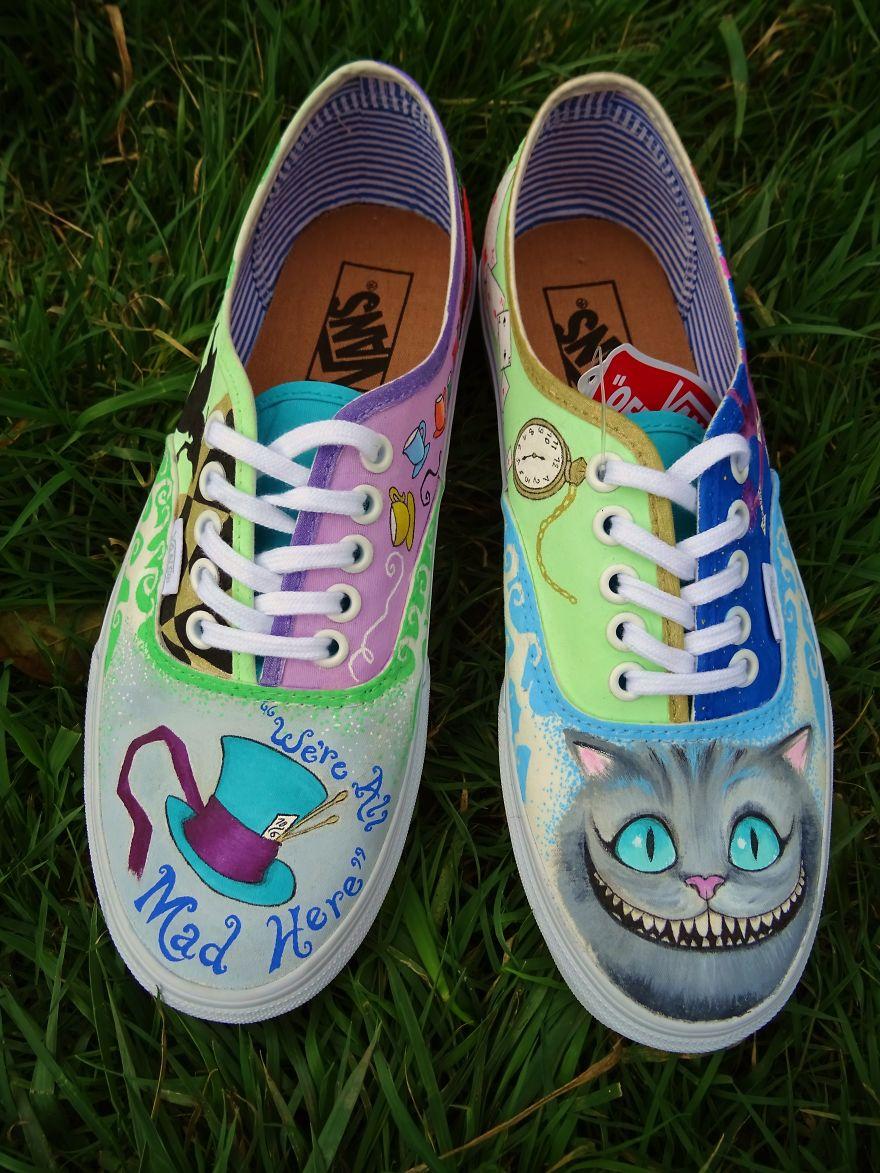 Alice In Wonderland Vans Shoes