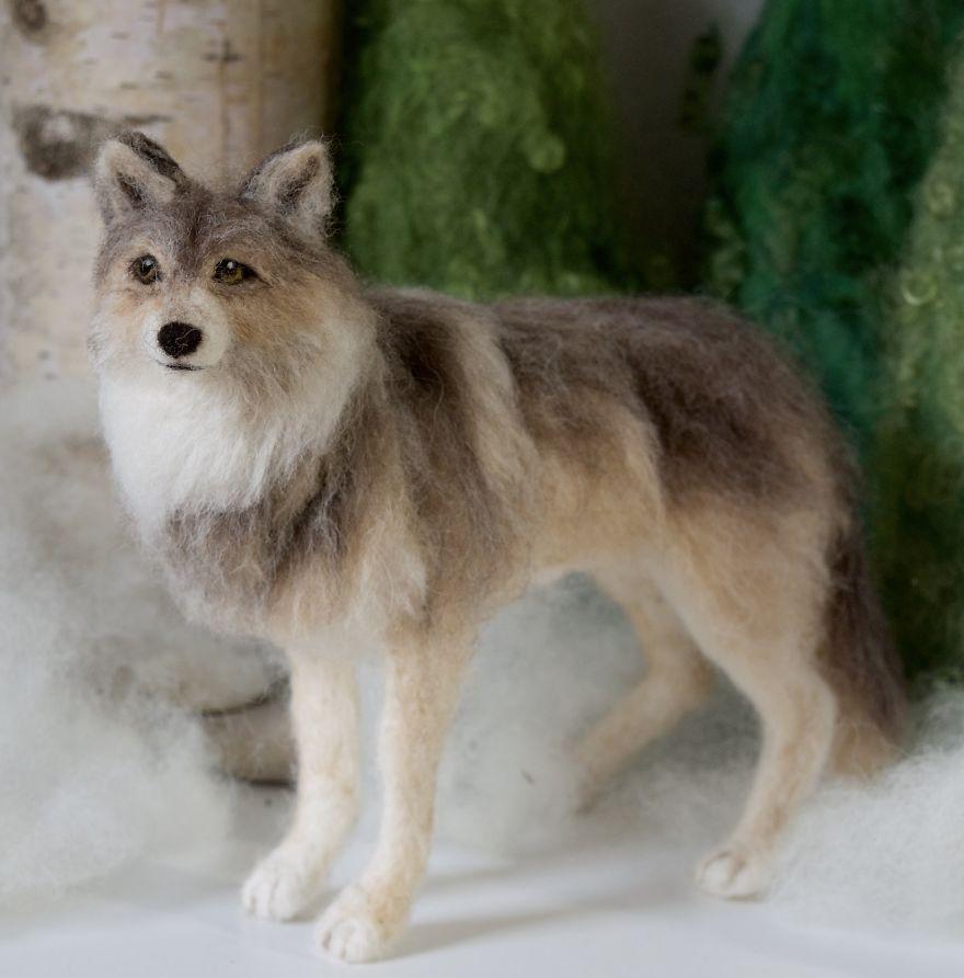 I Bring Wool To Life In Needle Felt Wildlife