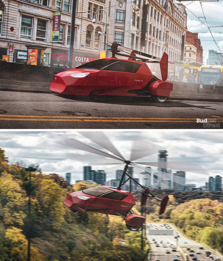 Flying Car 2020 tesla concept vehicles