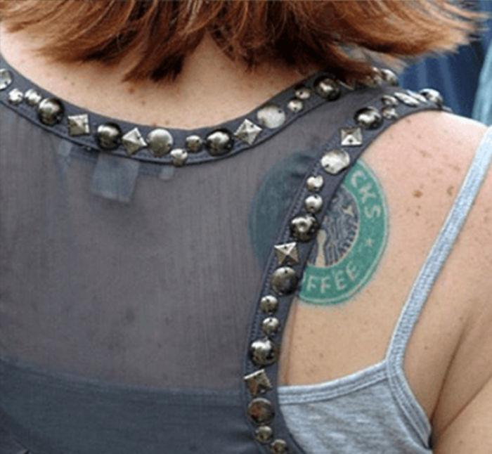 "Starbuck ""Stamp"" Back Tattoo"