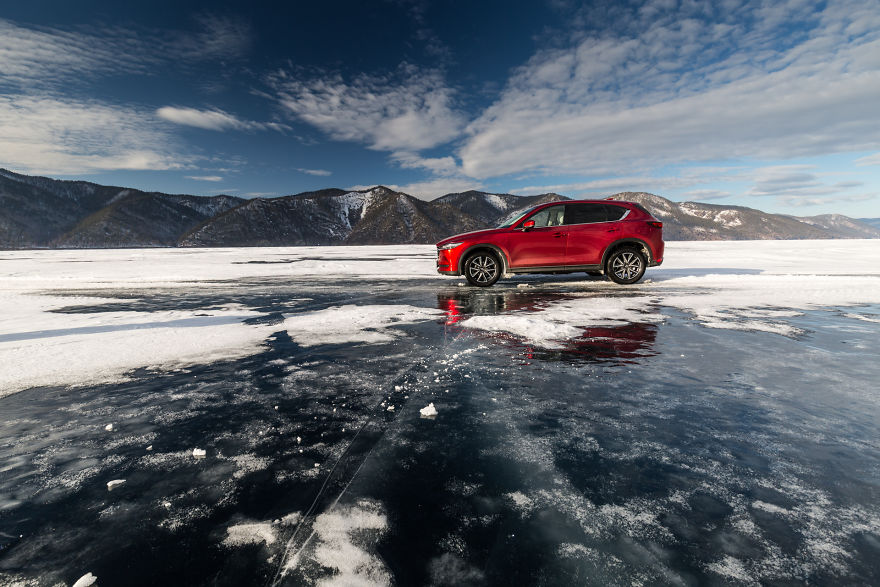 My Mazda Cx-5 On Baikal Lake, Russia