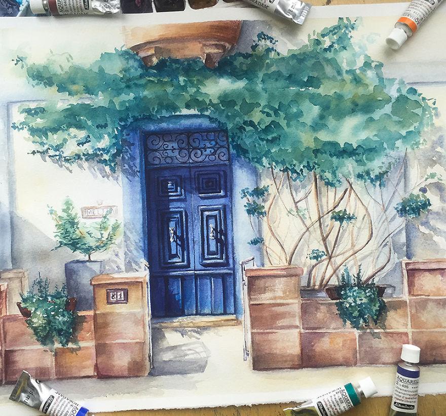 Blue Door In Żurrieq