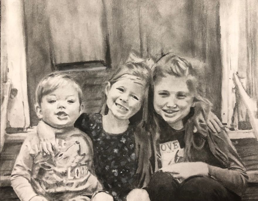 I Draw Commissioned Artwork For People And Here Are 13 Of My Recent Portraits