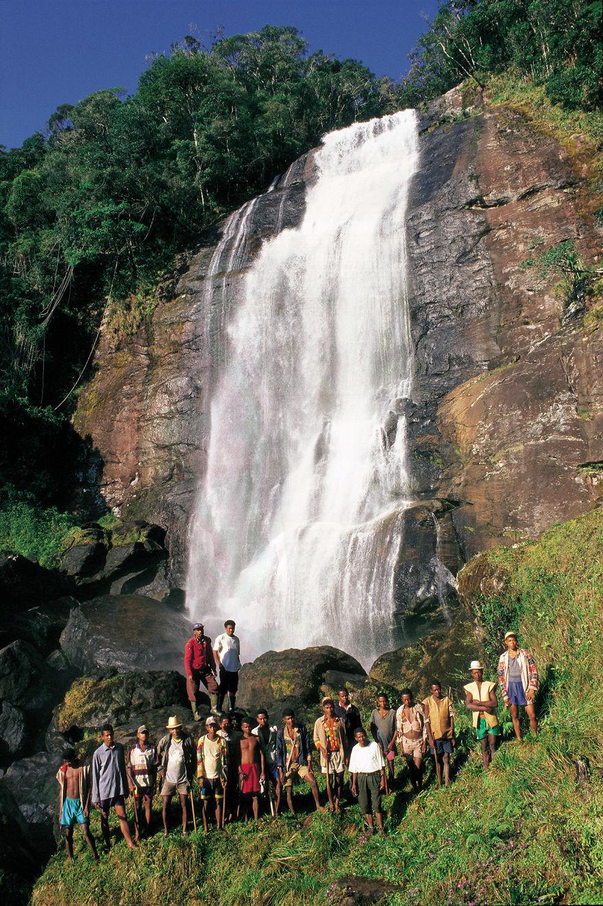 Beautiful Waterfall In Ranomafana Region