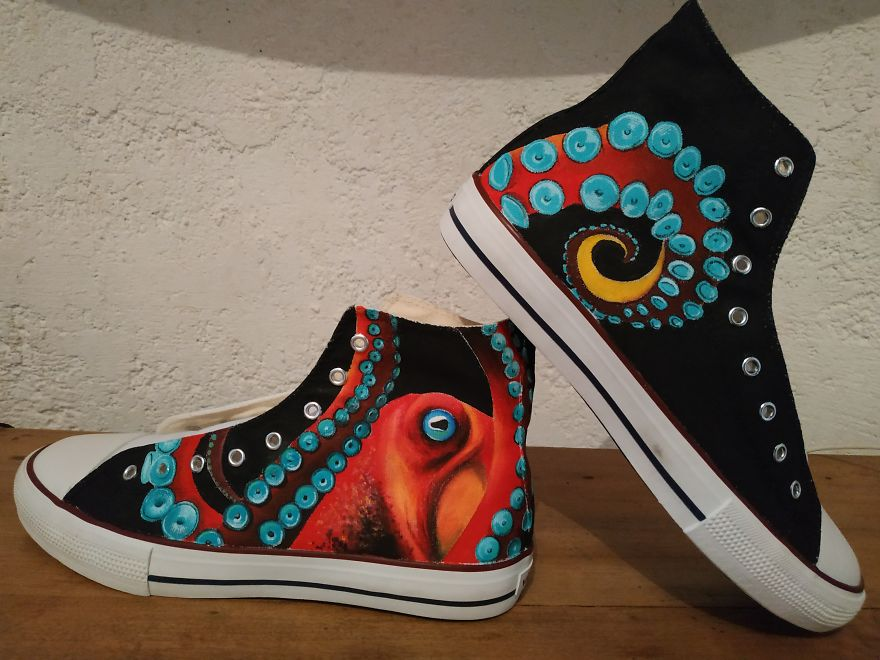 Octopus, Personal Design, On Victoria Shoes
