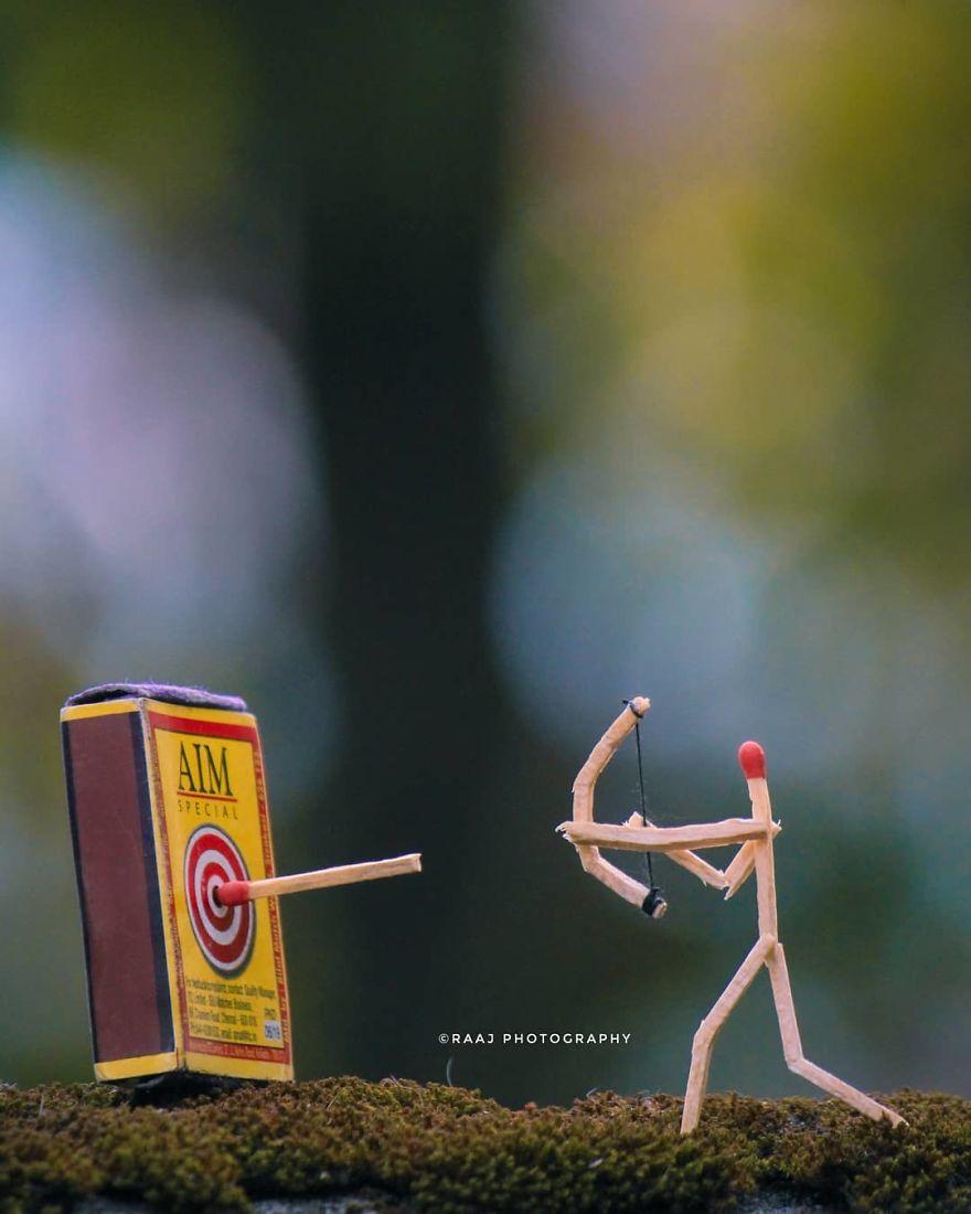 Indian Artist Shows The Secret Life Of Matchsticks