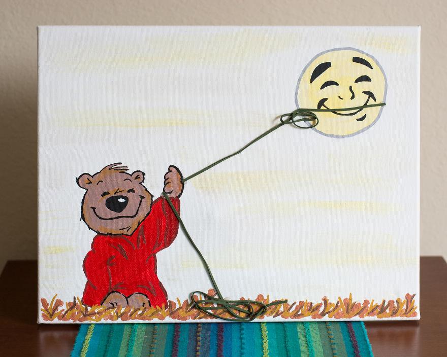 Teddy Bear Lassos The Moon!