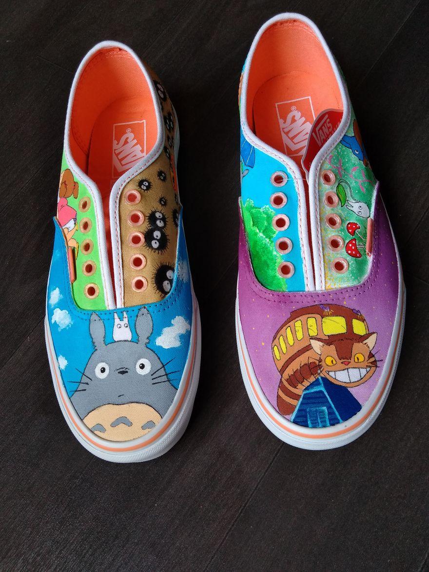 Totoro On Vans Shoes