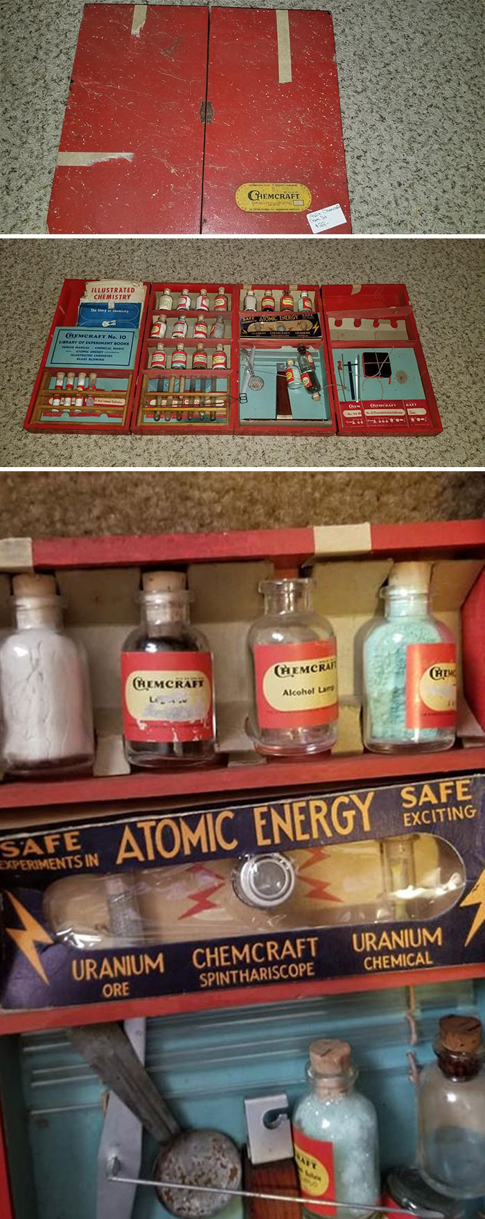 I Found This Kids Chemcraft Chemistry Set At A Flea Market In Nashville, Tennessee. People Would Lose Their Minds If Something Like This Was Released Today For Kids To Play With