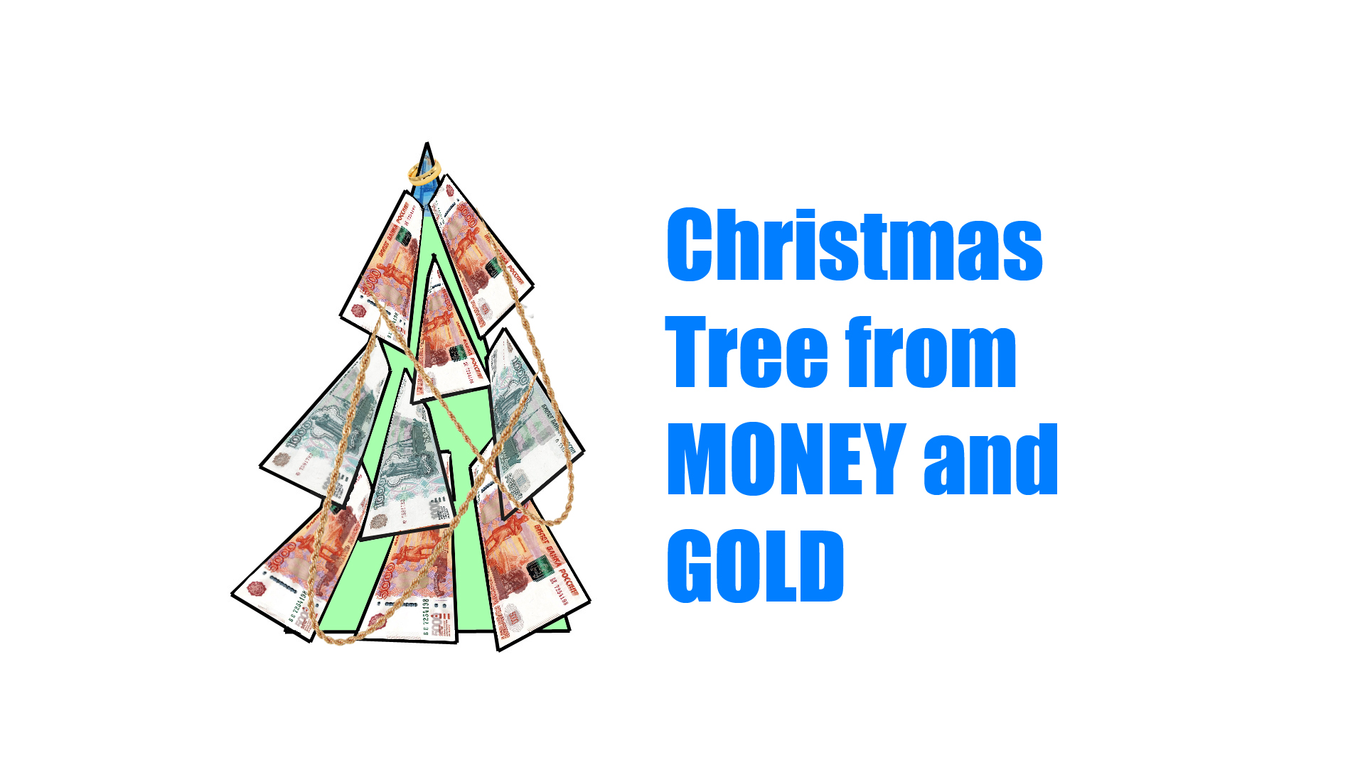 Unusual Russian Christmas Tree Made Of Real Money And Gold