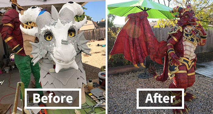 I Used Foam And 3D Prints To Create An Animated Dragon Cosplay And It Took Me Over 400 Hours (18 Pics)