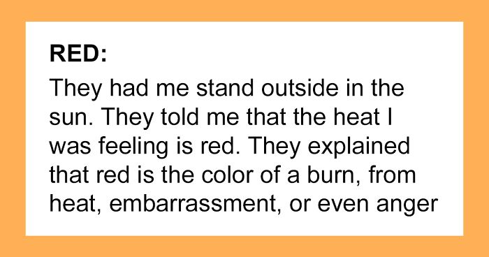 People Share How They Would Describe Colors To Blind People