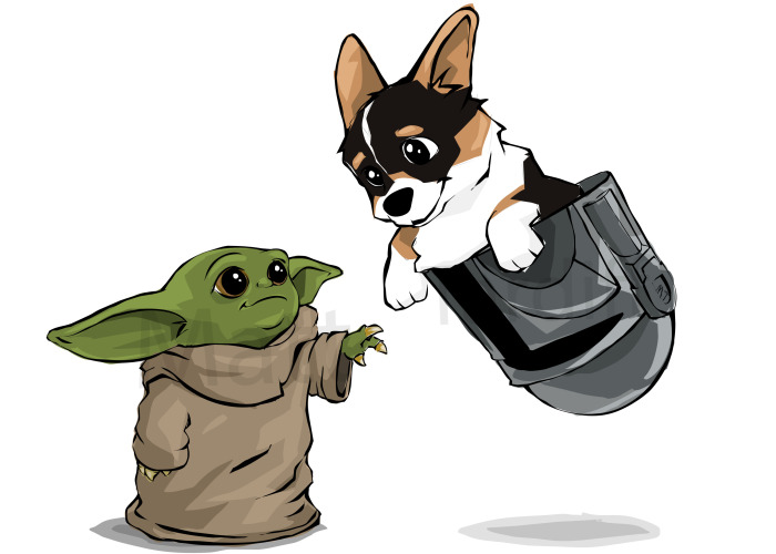I Draw Baby Yoda And Puppies