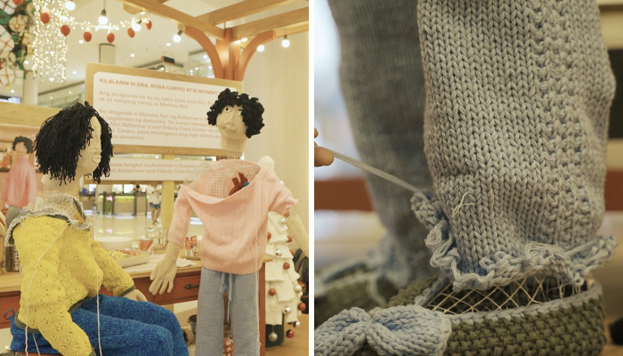 Interactive Crochet Installation For Dementia