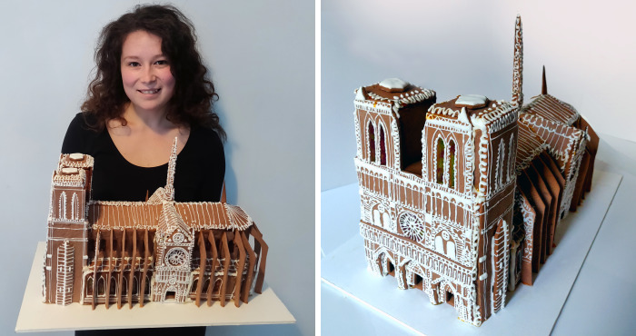 I Made A Gingerbread House Of Notre Dame De Paris For This Christmas