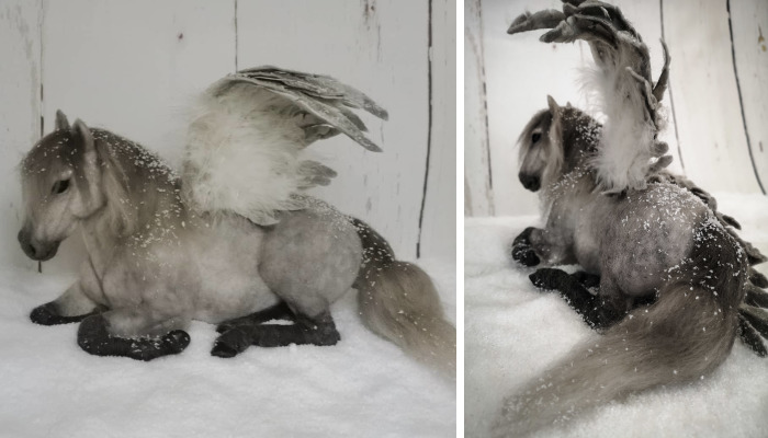 I Created Fanciful Pegasus Using My Child-Like Imagination