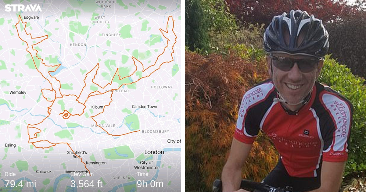 Cyclist Made 7 Drawings By Pedaling Around London, And He Spent 9 Hours To Draw This Reindeer