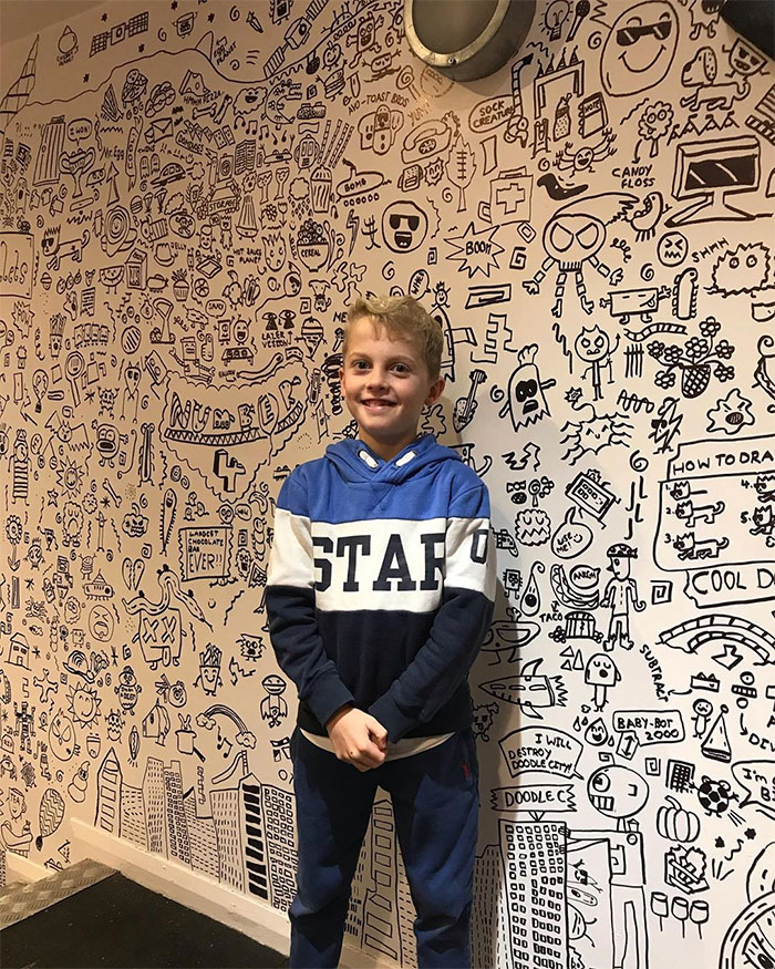 Remember The 9-Year-Old Kid Who Kept Getting In Trouble For Doodling In Class? He Just Finished His Work For Another Client