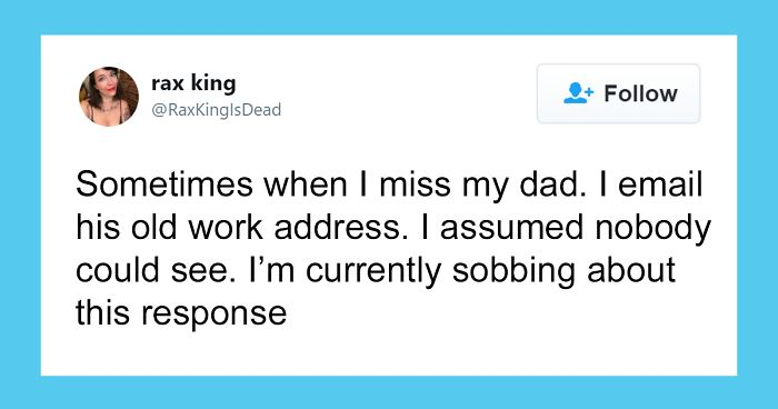 Woman's Father Passes Away, She Keeps Emailing Him, One Day She Gets A Response