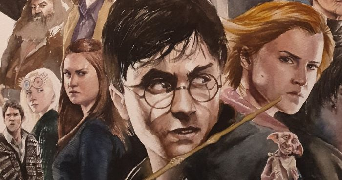 I Made A Watercolor Painting Of Harry Potter S Cast Bored