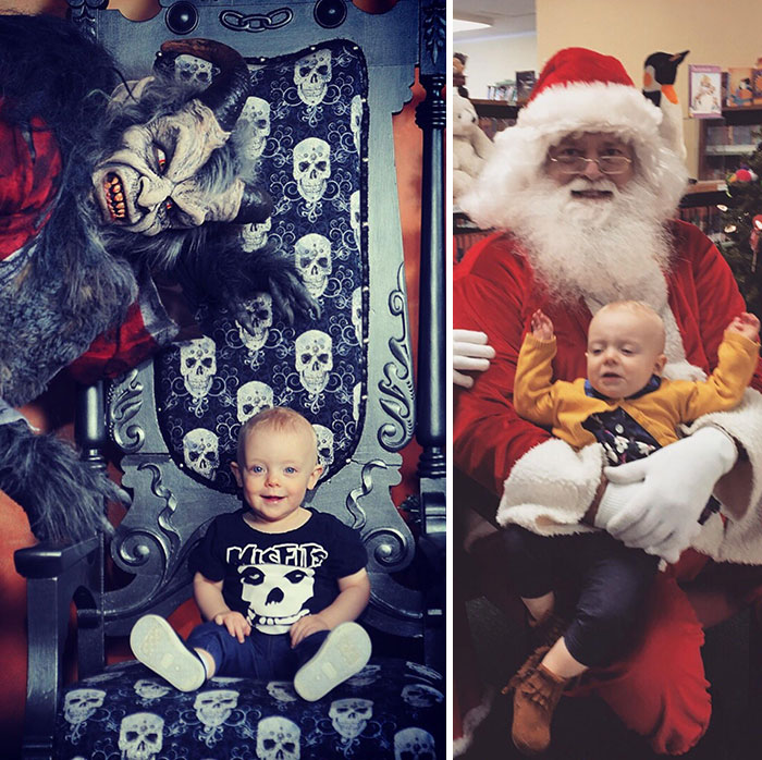 Mommy's Lil Monster Meets Santa & Krampus