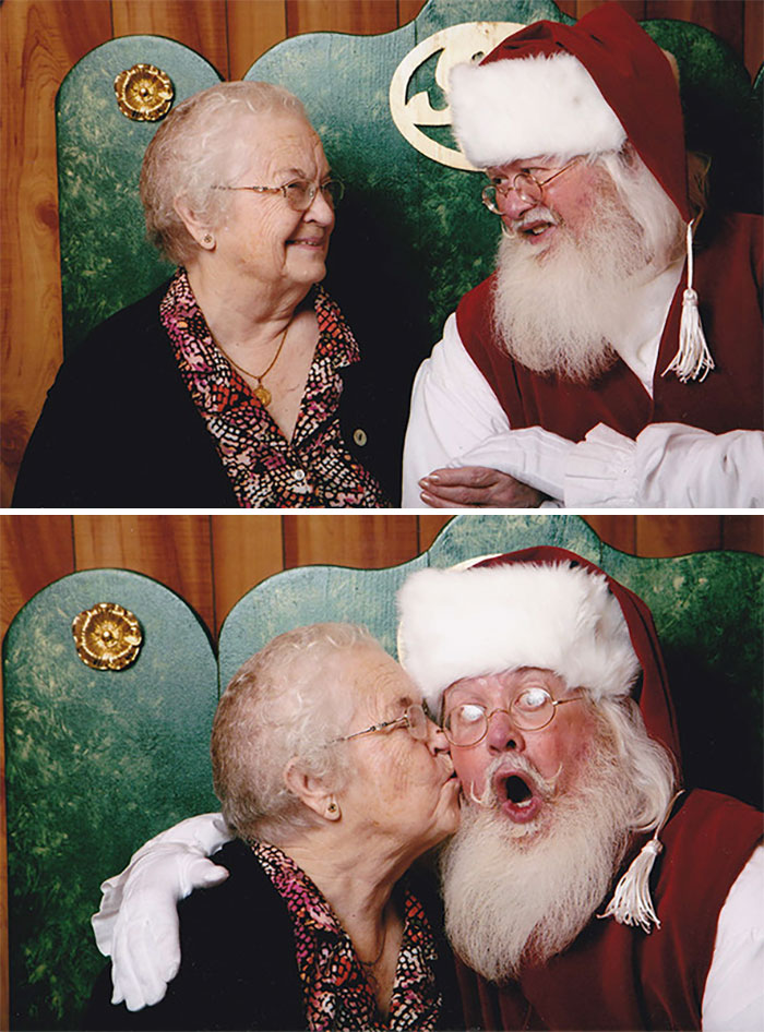 My 92 Year Old Grandma Said She's Never Been To See Santa. Change Of Plans This Christmas