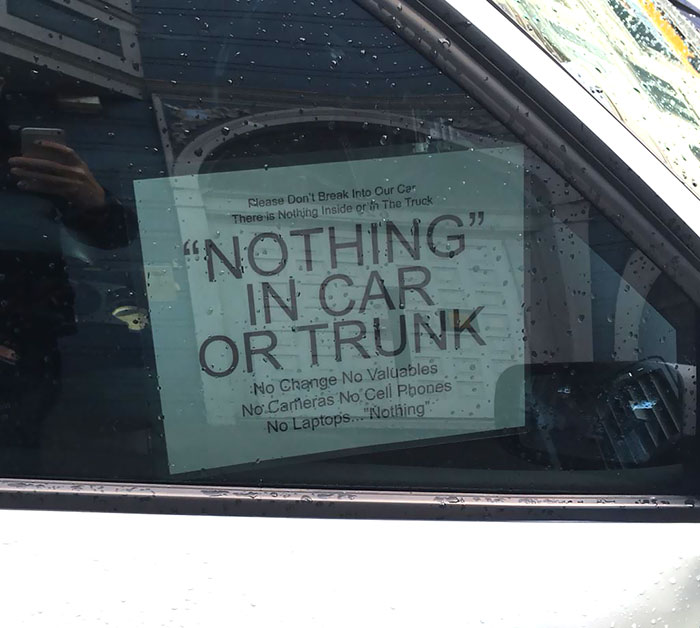 """Nothing"" In Car"