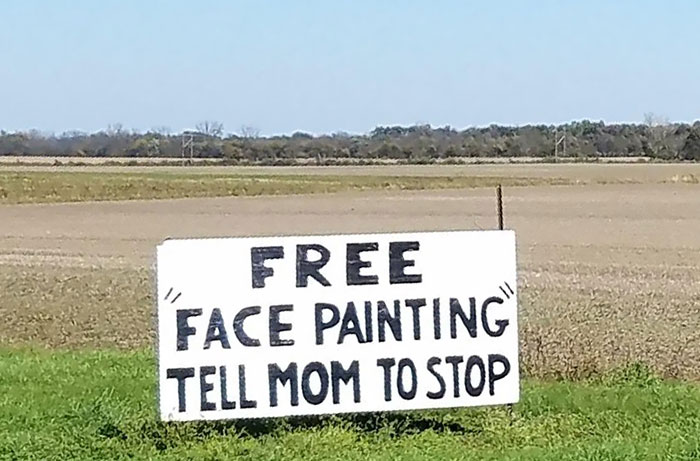 """Stop Mom! Free """"Face Painting"""""""