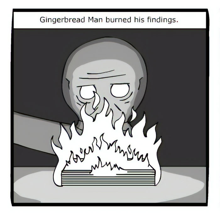 Artist Creates A Disturbing Comic Strip About Gingerbread Houses For Anyone Planning To Make Them