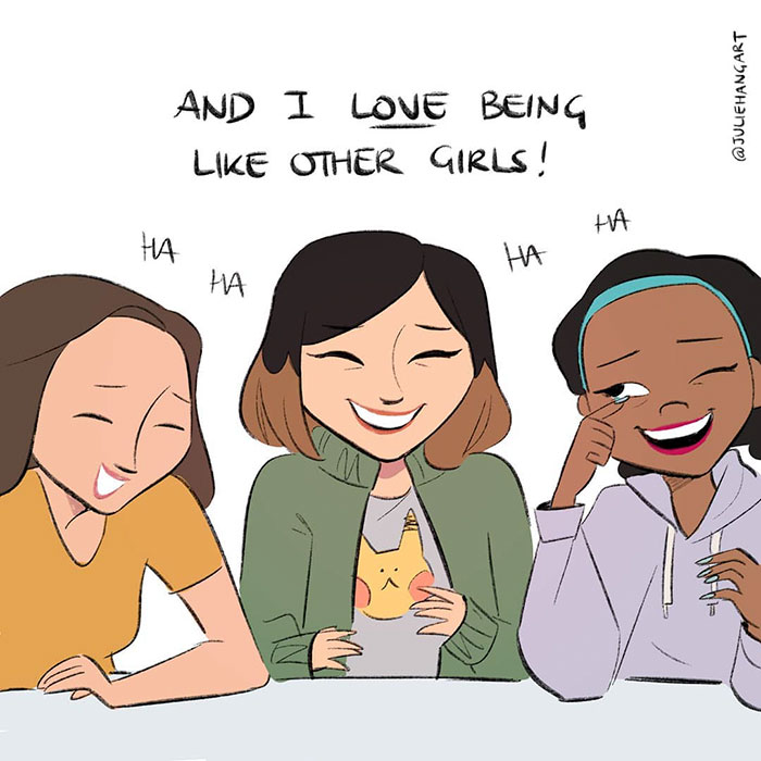 """Artist Creates A Comic To Show How Wrong The """"I'm Not Like The Other Girls"""" Attitude Really Is"""