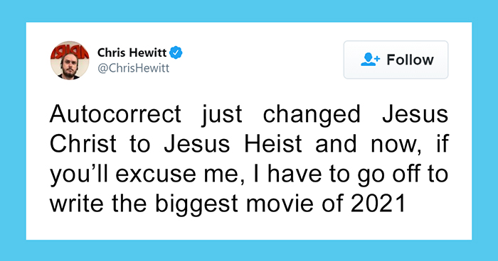 'Jesus Christ' Autocorrect Fail Inspires Hilarious Film Ideas