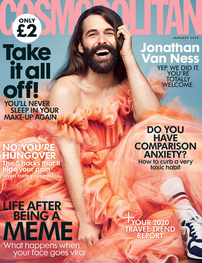 Cosmopolitan UK Features The First Non-Female Model On Their Cover In 35 Years