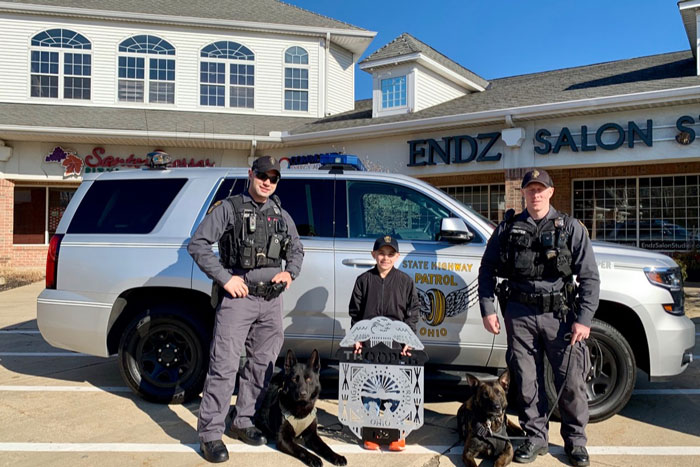This 9 Y O  Noticed Police K-9 Unit Without A Protective
