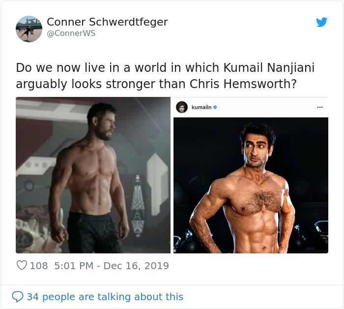 Kumail Nanjiani Explains How He Got Ripped In An Honest Caption