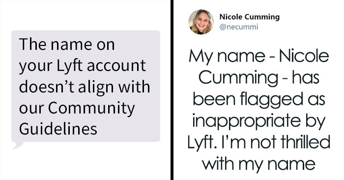 People With 'Offensive' Real Names Get Messages From Lyft Saying They Break 'Guidelines'