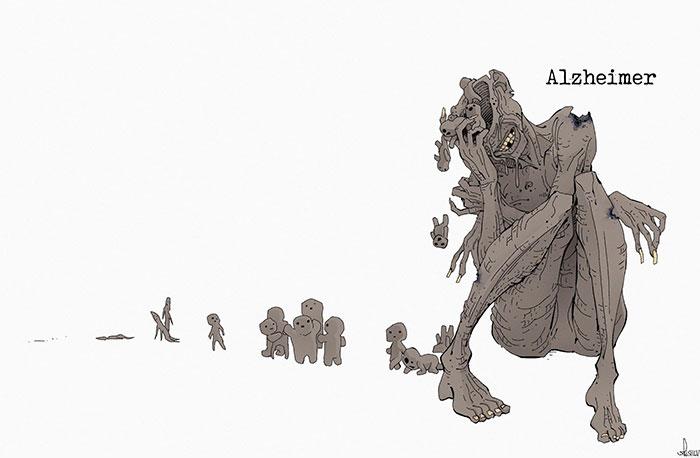 Mental-Illnesses-Monsters-Silvi-Illustrations