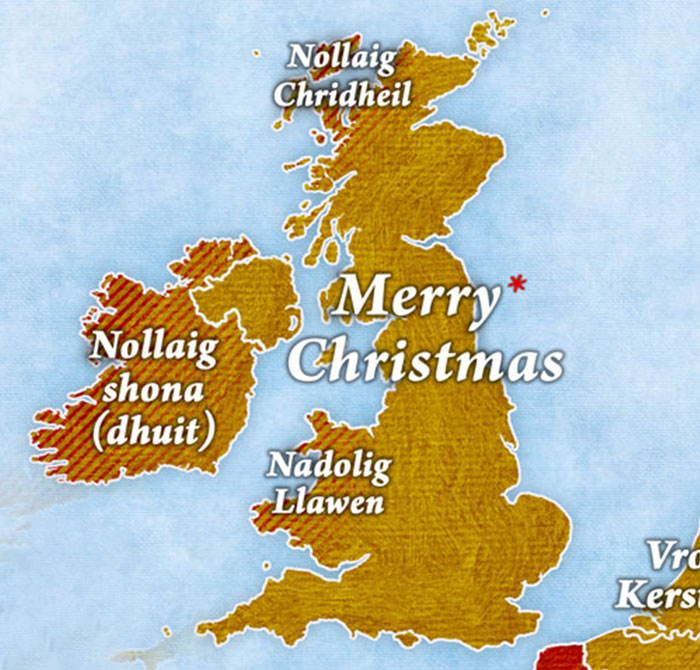 How Countries In Europe Say 'Merry Christmas'