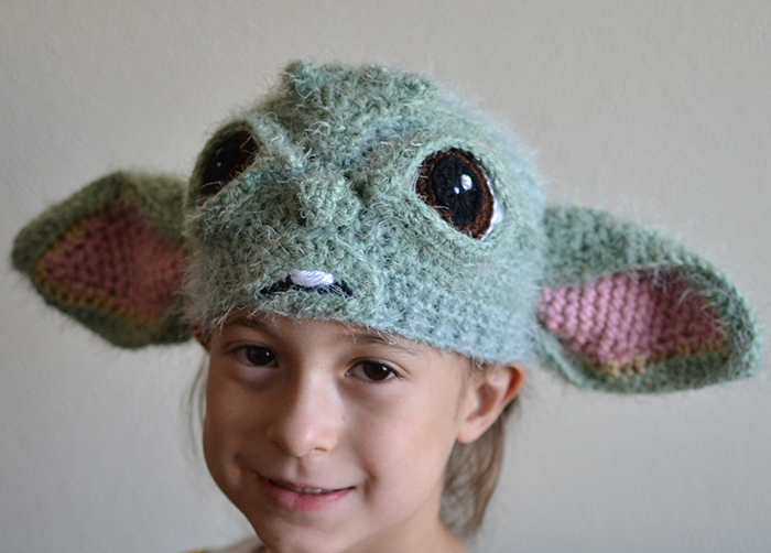 I Crocheted A Baby Yoda Hat And Here's What It Looks Like