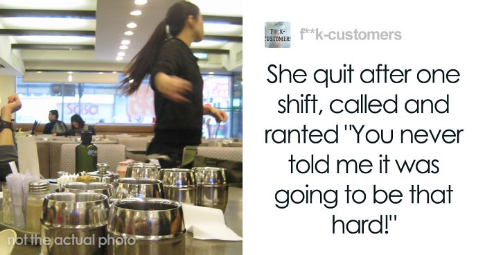 'Guys. She Quit After One Shift': Person From An Office Job Tries Working In A Food Service Job, Gets A Reality Check