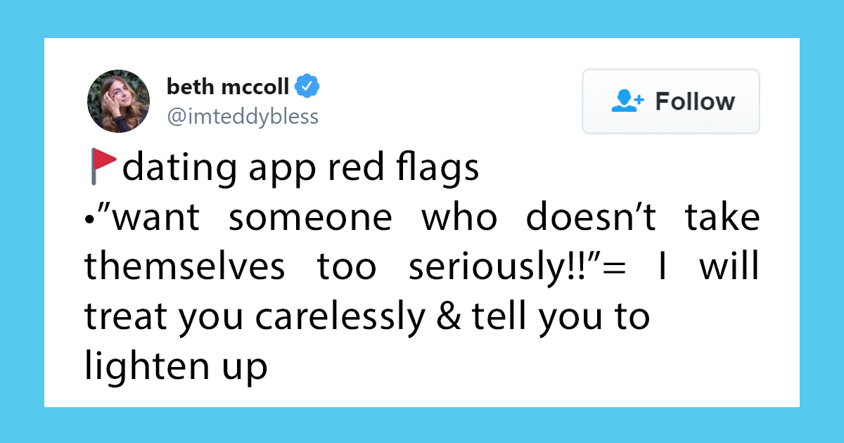 Women Help Other Women By Sharing Dating App Red Flags (36 Tweets)