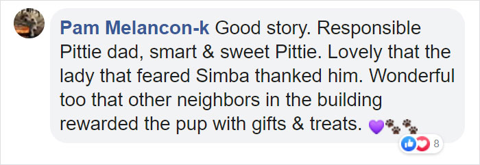 Woman Was Scared Of Neighbor's Pit Bull, Until He Saved Her When She Was In Trouble