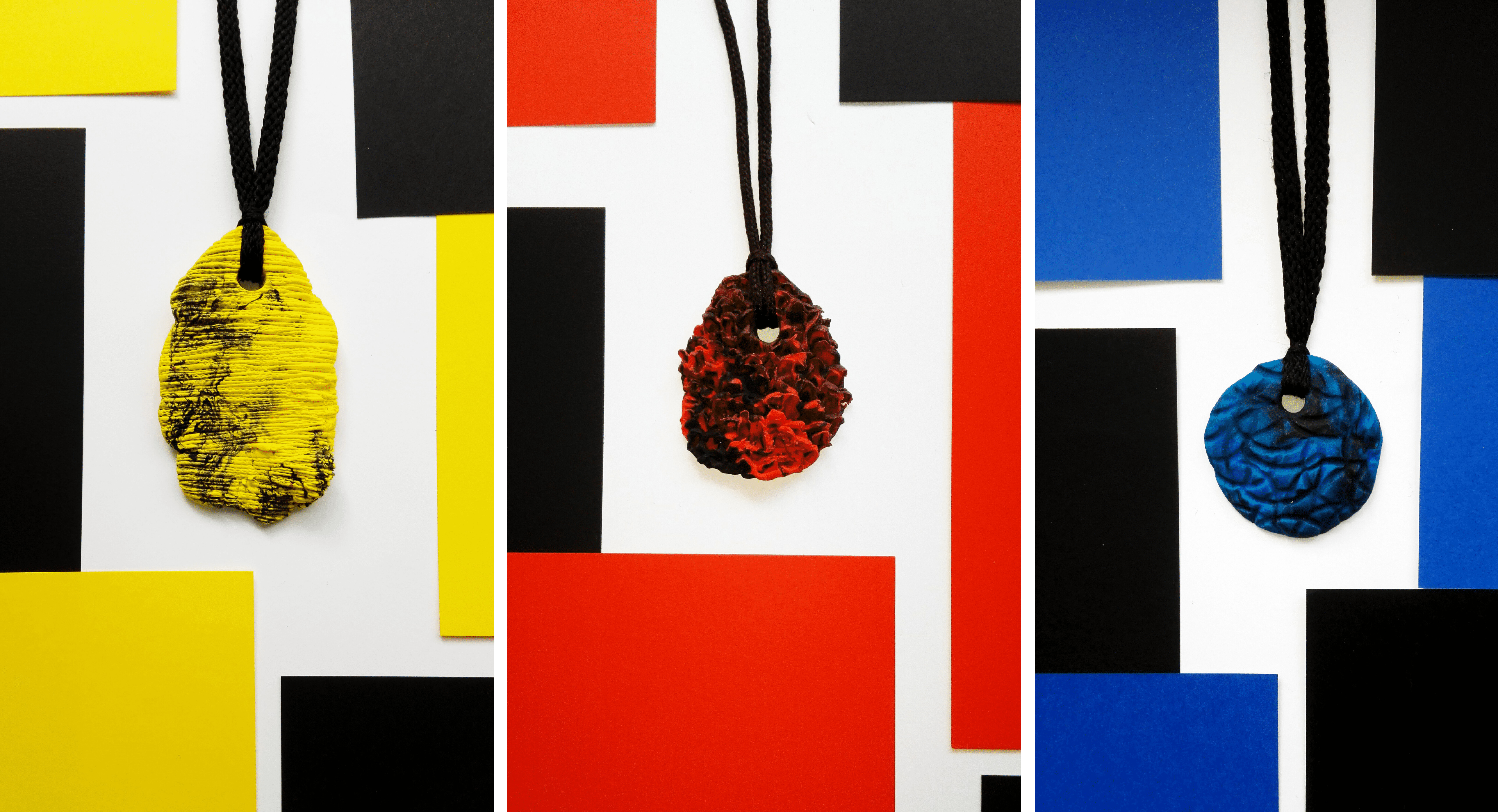 I Used Two Colors Of Clay And Shoelaces To Create Marble Pendants!