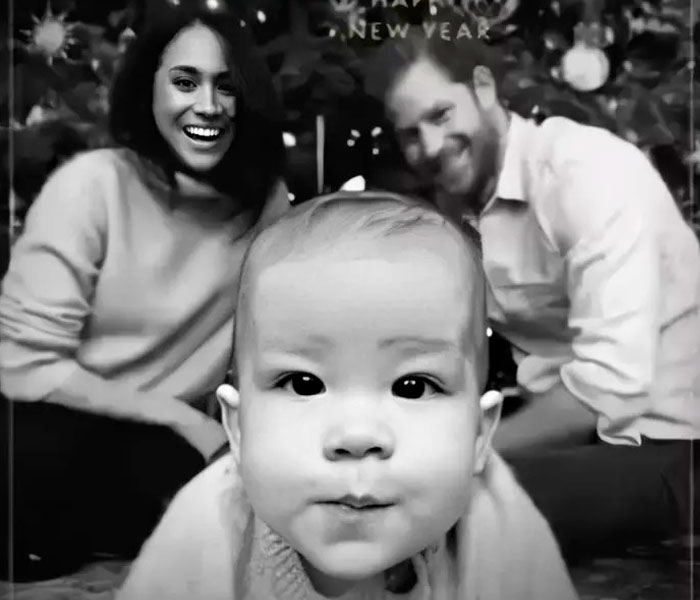 Harry And Meghan's Family Release Their Eco-Friendly Christmas Card Featuring Baby Archie