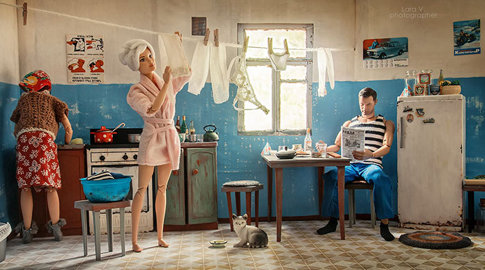 Photographer Captured What It Would Look Like If Barbie And Ken Lived In Soviet Russia