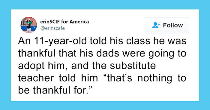 Teacher Doesn't Like This 11-Year-Old Being Thankful For Getting Adopted By Two Dads, So These Three Girls Get Her Fired