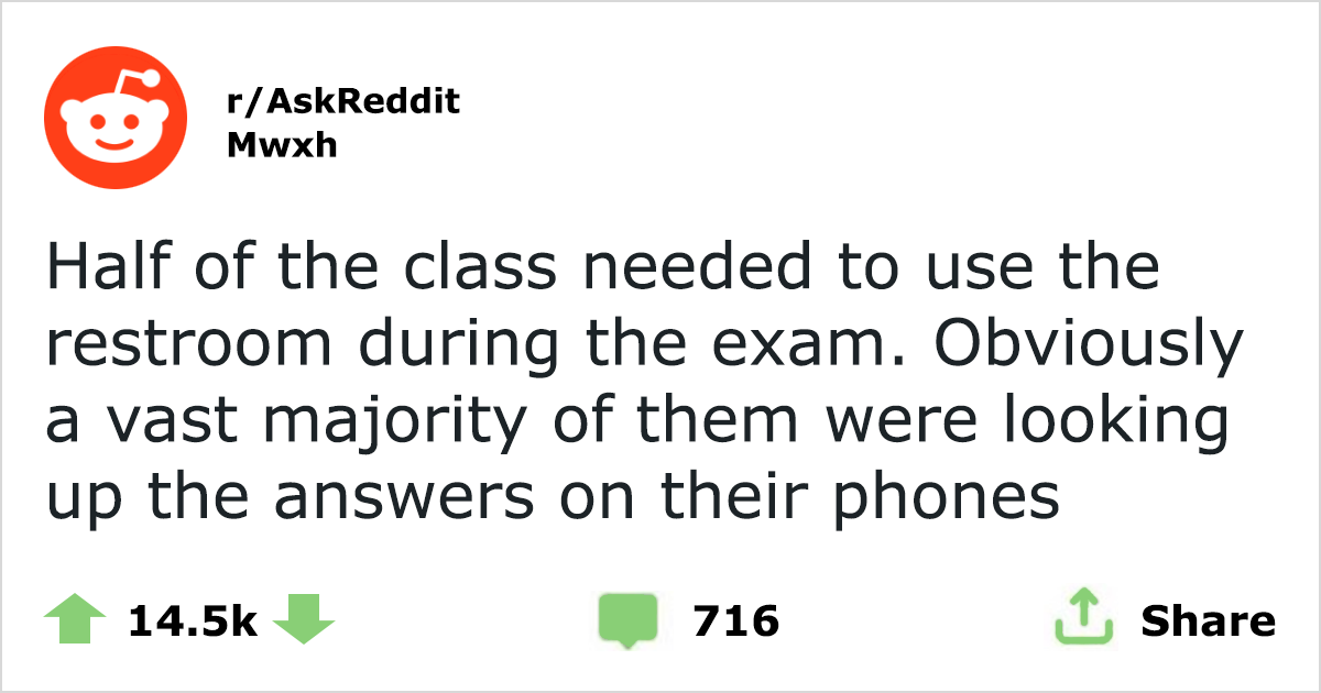 Professor Puts A Fake Question In One Of His Tests To Catch Cheaters - And It Works